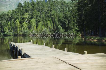 dock leading to lake