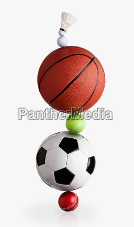 sports balls balancing