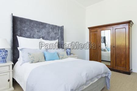 bed in luxury bedroom