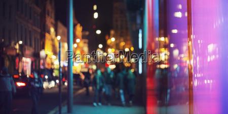 street lights of urban city street
