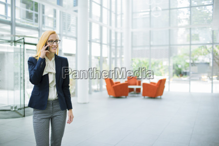 businesswoman talking on cell phone in