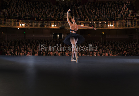 ballet dancer performing on theater stage