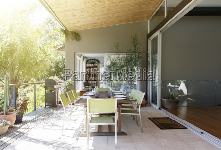 dinning table and chairs in sunny