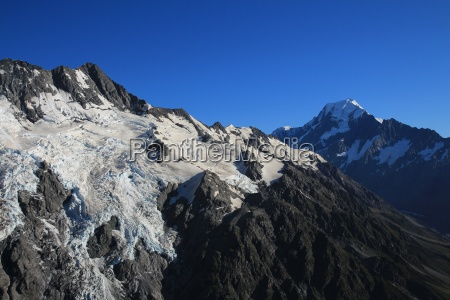 big glacier and peak of mt