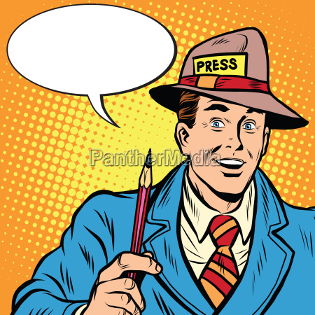 positive retro journalist interviews press media