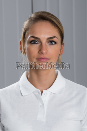 young woman in t shirt