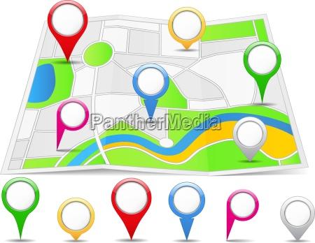map pins