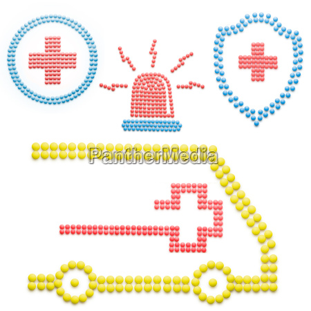 ambulance with pills
