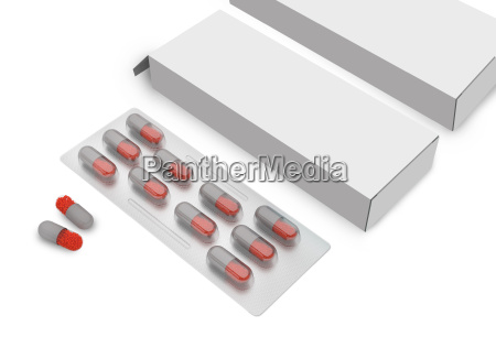 pill tablet with packaging box