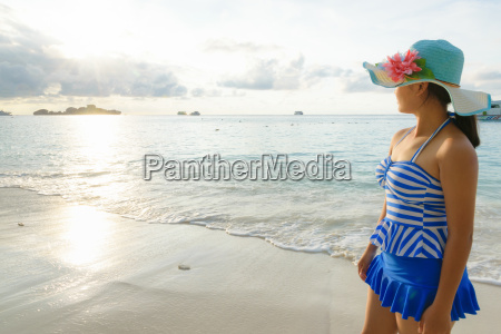 young girl on the beach at