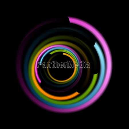 abstract colorful swirl circle logo