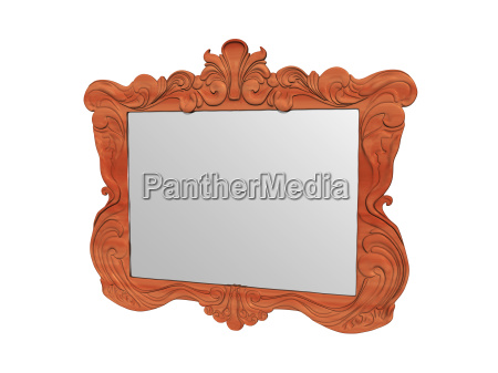 mirror in the wooden frame exposed