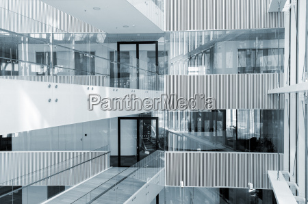 abstract interior of modern business center