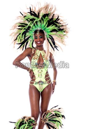 female dancer in carnival costume