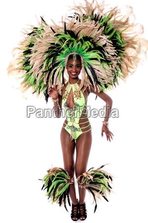 cheerful samba dancer