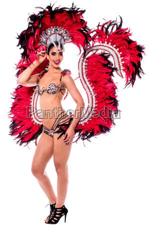 beautiful carnival dancer amazing costume