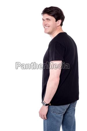 casual man with elegant smile