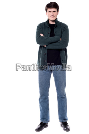 casual man with folded arms