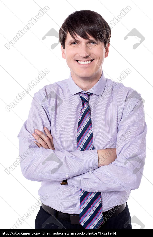 cheerful, businessman, looking, at, the, camera. - 17321944