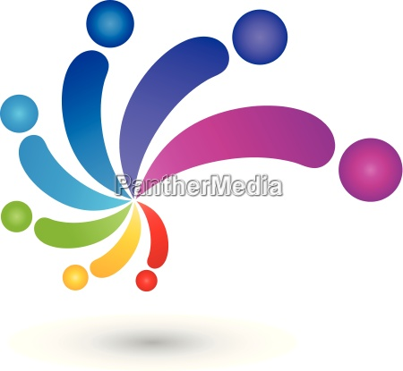 spiral people color painter logo