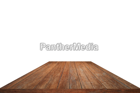 wood pattern table top isolated on