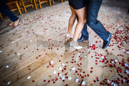 couple dancing on a dance floor