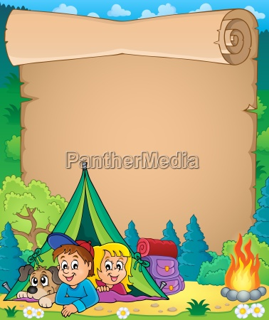 camping theme parchment 3