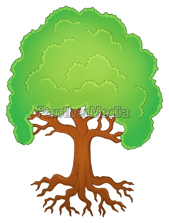 tree with roots theme image 1