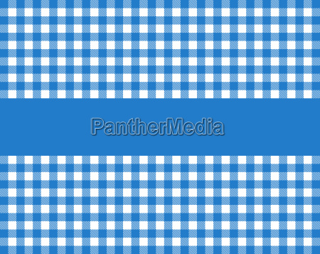 tablecloth with stripes blue white