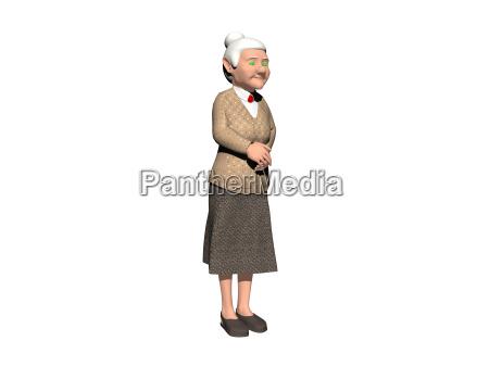 cartoon grandma exempted