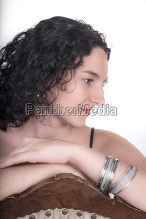 portrait of young adult woman on