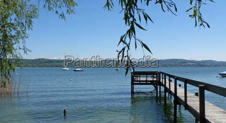 boatsteads at lake murten