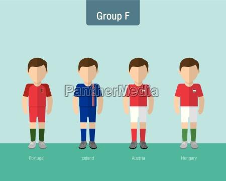 soccer uniform group f flat design