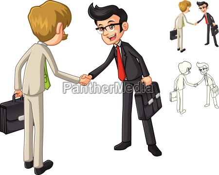 businessman shake hands poses with client