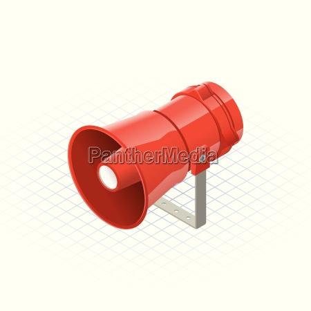 isometric loudspeaker alarm horn sounder a