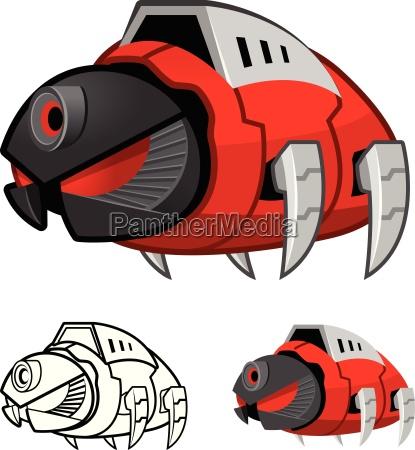 robot cockroach cartoon character include flat