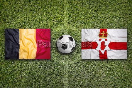 belgium vs northern ireland flags on