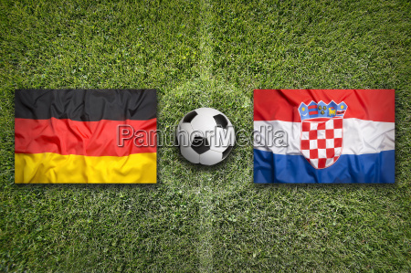 germany vs croatia flags on soccer