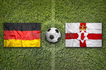 germany vs northern ireland flags on