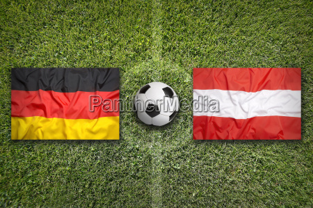 germany vs austria flags on soccer