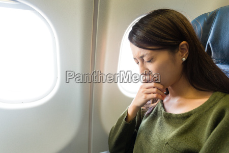fear of flying woman in plane