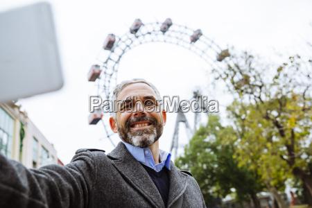 austria vienna portrait of smiling businessman
