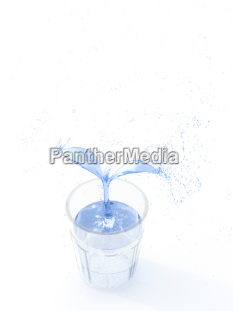 3d rendering pflanze of water growing