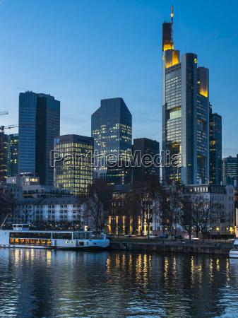 germany hesse frankfurt financial district in