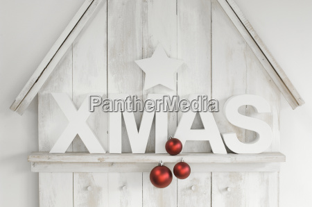 christmas decoration with star christmas baubles