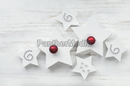 white star shaped christmas presents with
