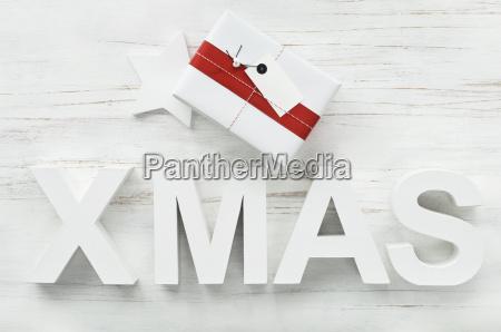 christmas present and christmas decoration with