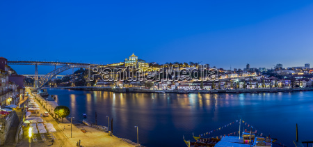 portugal porto luiz i bridge and