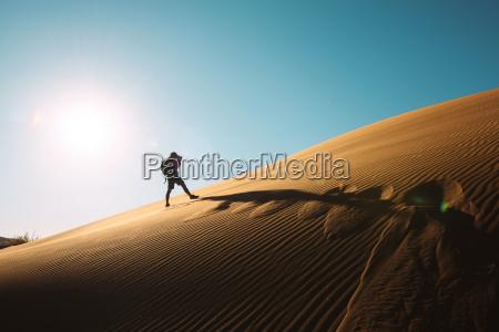 namibia namib desert sossusvlei man taking