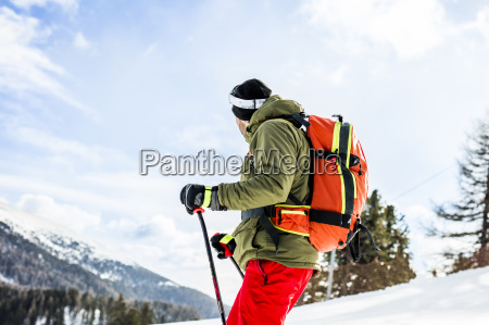 austria turracher hoehe skier in the